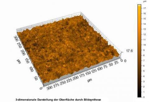 Abbildung: Dreidimensionale Darstellung der Oberfläche durch Bildsynthese